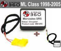 Mercedes M / ML class Front Seat Passenger Seat Mat Occupancy recognition sensor emulator bypass